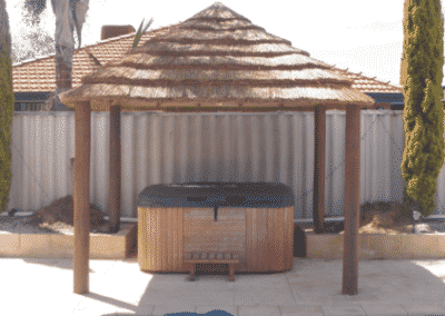 African Thatched Gazebo Square Corners