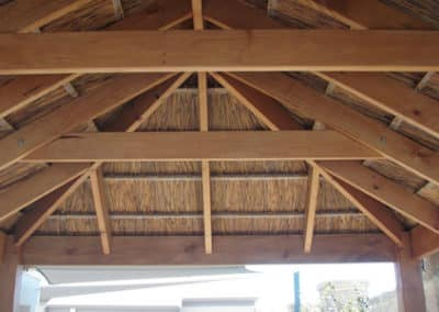 Inside African Thatched Gazebo