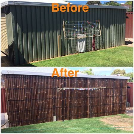 Bamboo fencing bamboo screening mr thatch diy or install for Living screen fence